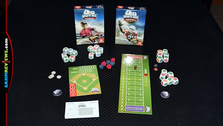 A brand new spin-off by FoxMind, FunWiz clears the bases with two sports-themed dice games -Sports Dice Baseball and Sports Dice Football! - SahmReviews.com