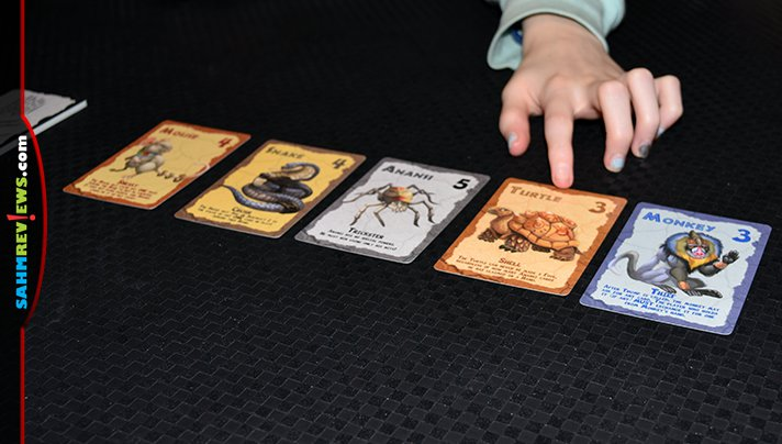 Level 99's Anansi and the Box of Stories is a card game of the trick-taking genre. This time there is more than just trump that you don't want in your hand! - SahmReviews.com