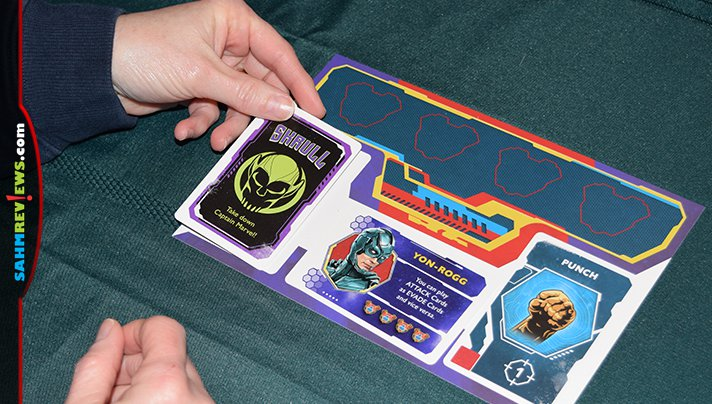 Marvel fans will hide their identity as they attempt to help (or hinder) Captain Marvel in Secret Skrulls hidden identity game from USAopoly. - SahmReviews.com