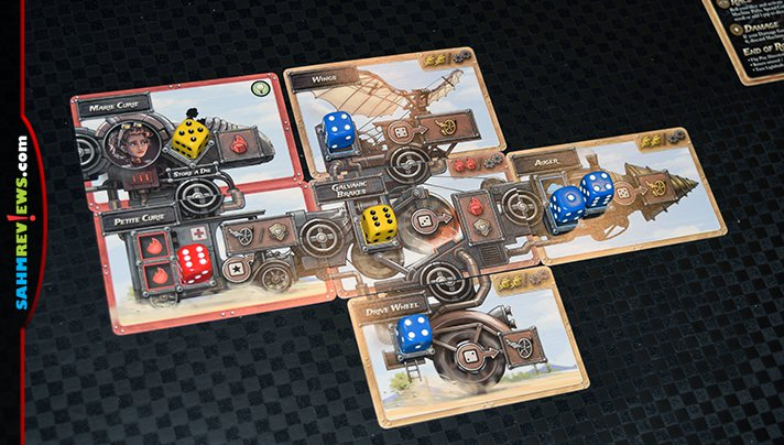Be your favorite inventor, create an awesome engine and hit the road in Steampunk Rally from Roxley Game Laboratory. - SahmReviews.com