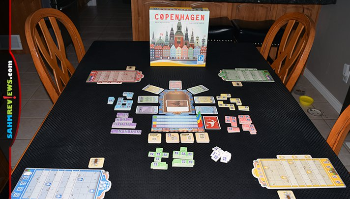 Cross a strategy game with an iconic digital puzzle and you have Copenhagen game from Queen Games! - SahmReviews.com