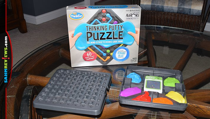 Combining amazing puzzles with putty from Crazy Aaron's, ThinkFun created a game that appeals to both our game and toy sides! Think you can solve them all? - SahmReviews.com