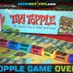 Use strategy to maneuver your tiki pieces into the top spots in Tiki Topple from Gamewright. - SahmReviews.com