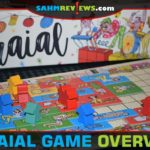 You'll use recognizable polyomino (Tetris-shaped) pieces to entice visitors to your festival in Arraial from Pandasaurus Games. - SahmReviews.com