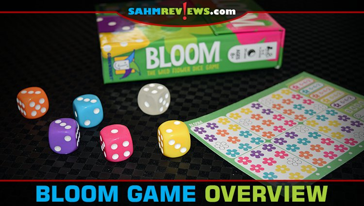 Bloom Roll and Write Game Overview