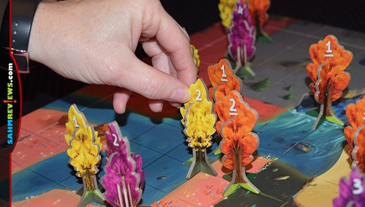 Take a hike and admire the trees you've planted. Then shuffle your feet through the leaves in Floodgate Games' new Bosk board game! - SahmReviews.com