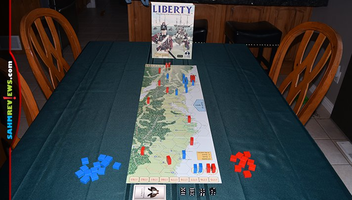 Our daughters were ready for a war game that was a bit more involved than the rest. We started them out on Columbia Games' Liberty: The American Revolution! - SahmReviews.com
