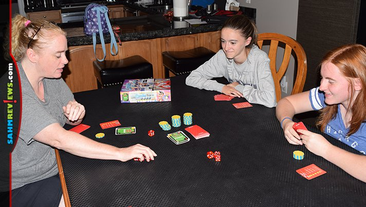 Nicole got real excited to find another dice game at thrift. Combo King by Gamewright turned out to be one of her favorite finds of the year! - SahmReviews.com