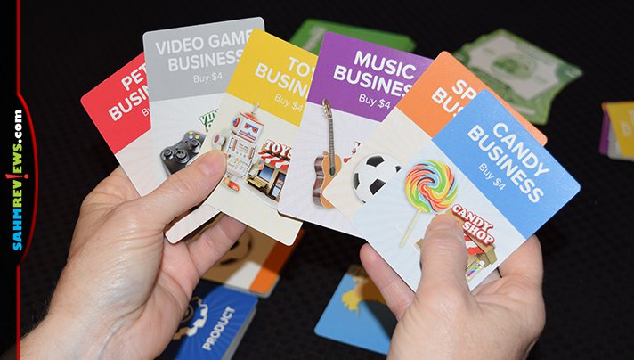If you don't want to play with monsters, you can run a business instead! That's the feature of the GoVenture card game - you can choose which theme you use! - SahmReviews.com