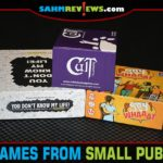 These party games from small publishers may be perfect for your next gathering. Read about Cult Following, Say Whaaat and You Don't Know My Life to decide for yourself! - SahmReviews.com