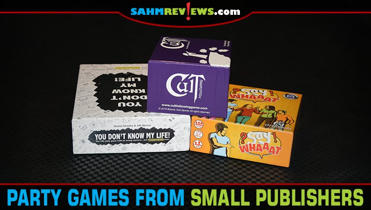 3 Party Games from Small Publishers