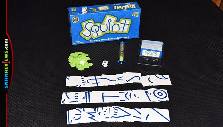 This week's Thrift Treasure is a drawing game without any pens or pencils. Fortunately, this copy of Squint by Out of the Box was 100% complete! - SahmReviews.com