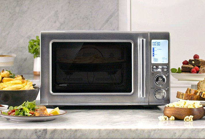 Breville Combi Wave 3-in-1 has grill, convection oven and microwave functions for heating, baking and even air frying! - SahmReviews.com