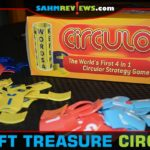 This cylindrical find houses four different games! Circulo by University Games was one of the three things we picked up at an out of town Goodwill! - SahmReviews.com