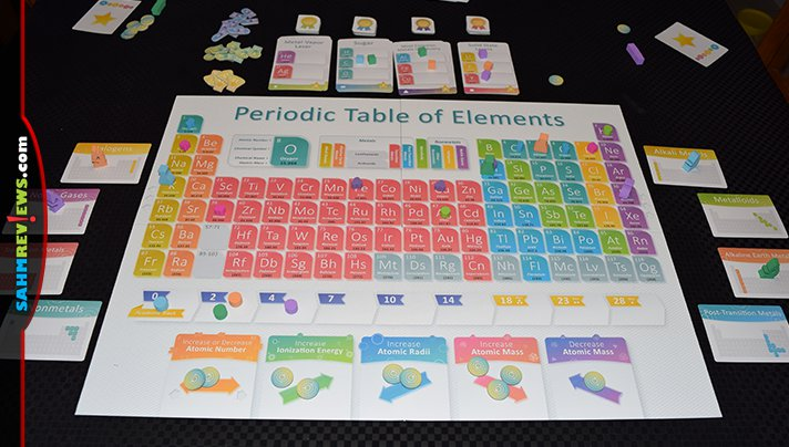 Don't let the science theme turn you away from Genius Games' new Periodic: A Game of the Elements. It's not nearly as difficult as high school chemistry! - SahmReviews.com