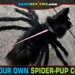 Do you dress your pets for the holidays? This easy DIY Spider-Pup costume is fun for Halloween... or any time you feel like walking a spider on a leash! - SahmReviews.com