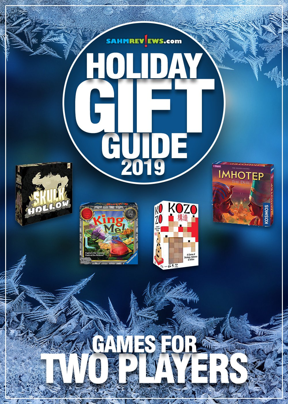 This list of 2-player games is perfect for when you want to play with just one opponent. See which ones are most popular in our Holiday Gift Guide! - SahmReviews.com