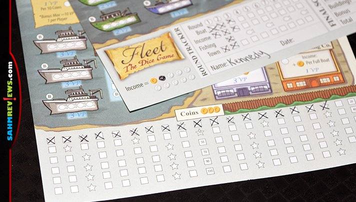 Fleet Dice Roll-n-Write game from Eagle Gryphon Games is a perfect example of a roll & write game with a lot of depth in the game play. - SahmReviews.com