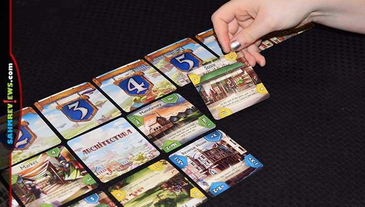 This city-building game from Arcane Wonders was an easy choice for our Holiday Gift Guides. Find out about the math lesson hidden inside of Architectura! - SahmReviews.com