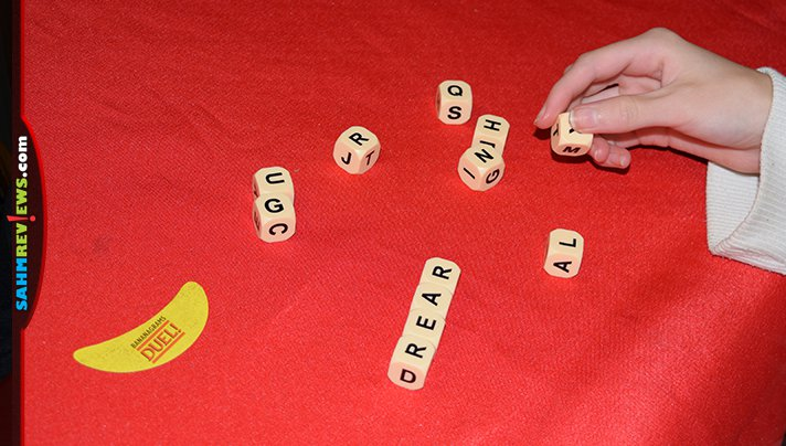 Whether you only have two people or a group, Bananagrams has an option that works including Bananagrams Duel and Bananagrams Party. - SahmReviews.com