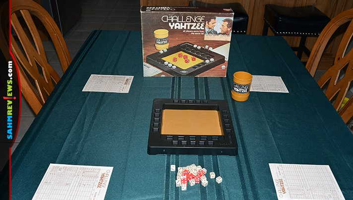 Originally a version of Yahtzee meant to play faster, this copy of Challenge Yahtzee by E.S. Lowe is this week's Thrift Treasure find! - SahmReviews.com