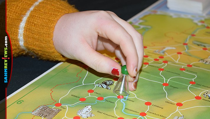 This German game made its way to the US (and our thrift store) due to a transferred military family. See what we thought of Ravensburger's Deutschlandreise! - SahmReviews.com