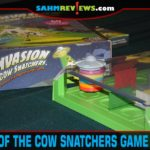 A little bit of puzzle skills and you can aid the alien spaceship in collecting cows in Invasion of the Cow Snatchers puzzle game from ThinkFun. - SahmReviews.com