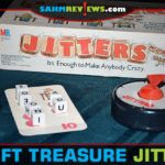 Milton Bradley's Jitters is a speed word game with a push-your-luck mechanic that is anxiety-inducing! Find out about this mid-80's Thrift Treasure! - SahmReviews.com