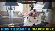 How to Make a Diaper Bike for a Baby Shower