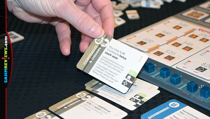 Build pipelines, buy, upgrade and sell oil barrels and fill contracts in Capstone Games' Pipeline board game. Read about the layers of this strategy game. - SahmReviews.com