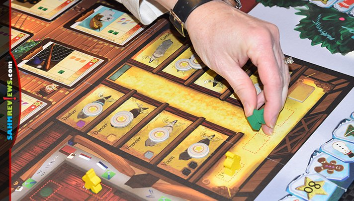 Take on the role of elves and start assembling gifts for kids on Santa's nice list in Santa's Workshop board game from Rio Grande Games. - SahmReviews.com