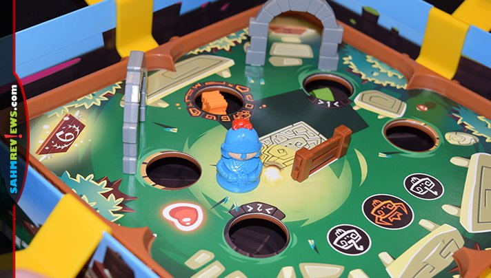 Slide the knight through the obstacles in this labyrinth-style cooperative game. Read more about Slide Quest from Blue Orange Games. - SahmReviews.com