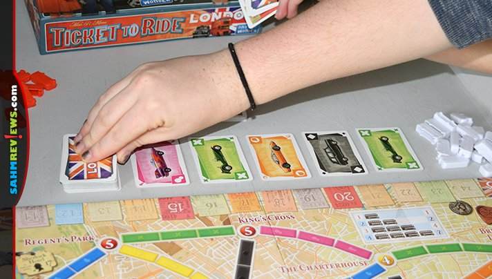 Ticket to Ride London from Days of Wonder doesn't follow the rails of its predecessors. This lighter version is about touring London on a double-decker bus! - SahmReviews.com