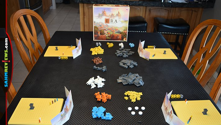 Roll dice, earn resources, build on your land and extort your opponents in Era: Medieval Age board game from Eggertspiele. - SahmReviews.com