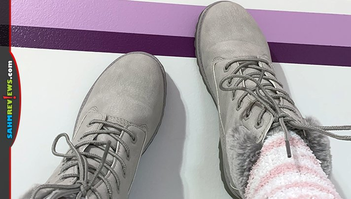 We're used to Lugz footwear to wear outside, but they also have indoor options! Read about Lugz Sequoia slipper shoes and Lugz Convoy boots. - SahmReviews.com