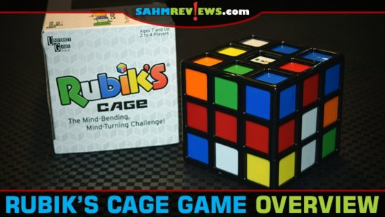 Usually a Rubik's Cube is for one person to solve. Rubik's Cage by University Games is a puzzle challenge for up to four players! Can you keep up? - SahmReviews.com