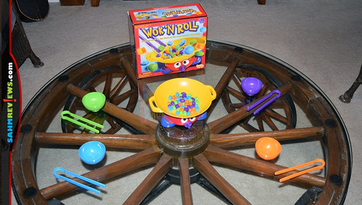 Who needs another game about chopsticks! We do! This week we found this (rare?) copy of Wok 'n Roll at thrift. All it needed was two new batteries! - SahmReviews.com
