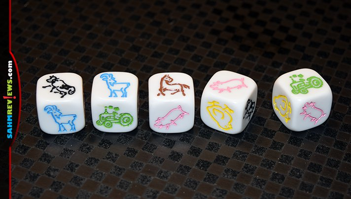 You may have played Yahtzee, but never with farm animals! Dice 'n Score Farm by R&R Games does away with pips in favor of your animal friends! - SahmReviews.com