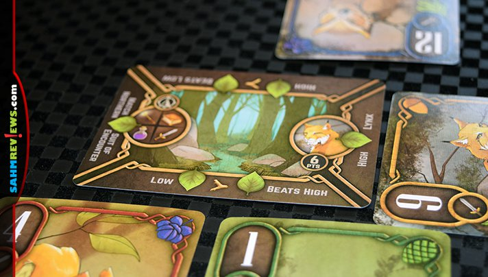 Most trick-taking card games have one objecting. Into the Black Forest has four goals each hand! Check out this brand new Green Couch Games title! - SahmReviews.com