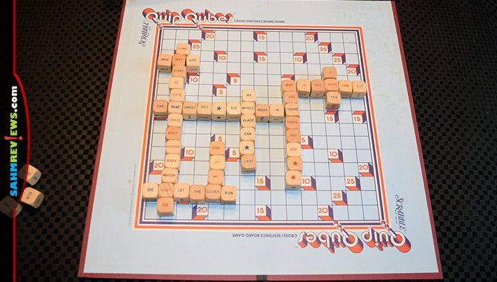 Counting on the popularity of the Scrabble brand name, Quip Qubes was a poor attempt at applying the same game rules to a sentence-building game. - SahmReviews.com