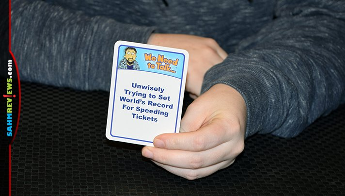 Stage your own intervention by playing We Need to Talk... by Smirk & Laughter. You just might find out what your friends actually think about you! - SahmReviews.com