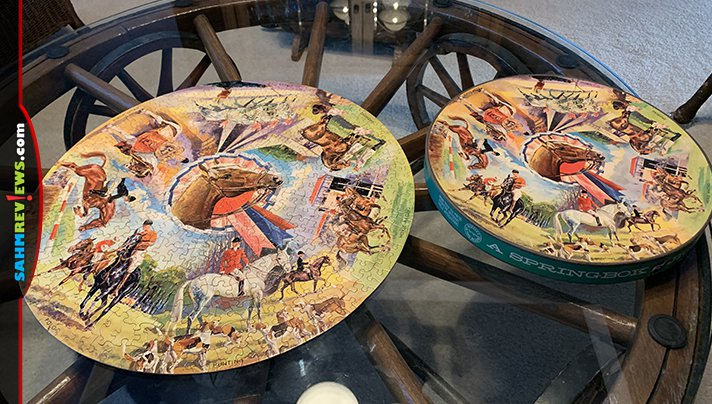 The fad of round puzzles in the 60's means they're not as rare as you'd think. We pick them up at thrift all the time for a couple bucks! - SahmReviews.com