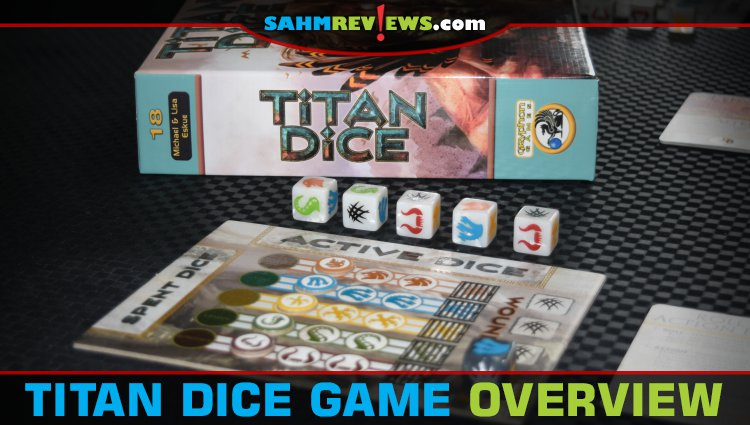 Titan Dice Bookshelf Game Overview