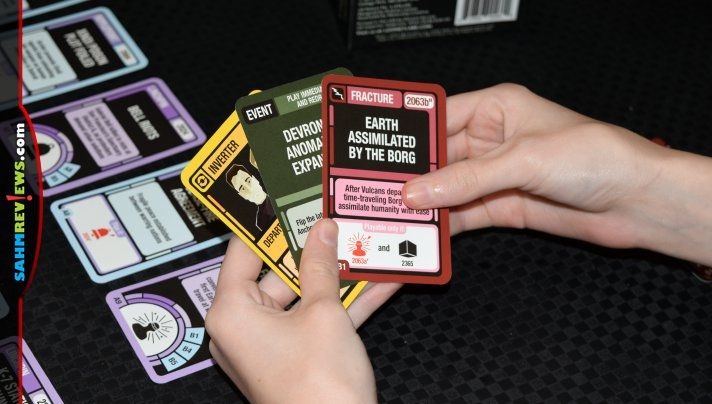 Explore the Star Trek universe during game night card games from Looney Labs including Chrono-Trek and Deep Space Nine Fluxx! - SahmReviews.com