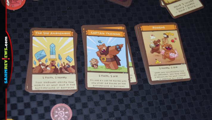 Bears have started collecting resources and attacking surrounding villages in BarBEARian Battlegrounds from GreenBrier Games. - SahmReviews.com