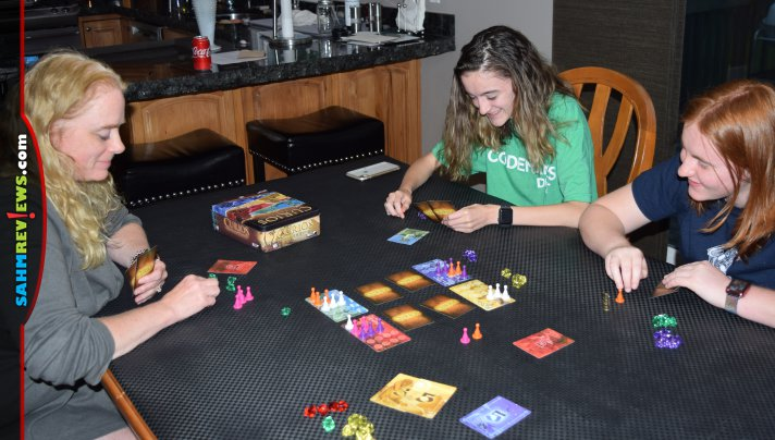 Randomness in games is so last century. Today's board games are all about rewarding good decision making. Curios by AEG is a perfect example! - SahmReviews.com