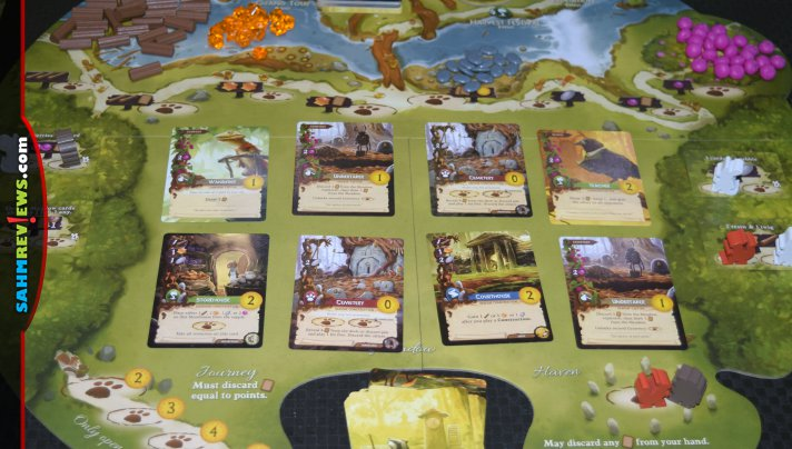 The 3-dimensional tree-shaped game board will draw your attention then the gameplay of Starling Games' Everdell will keep you coming back for more. - SahmReviews.com