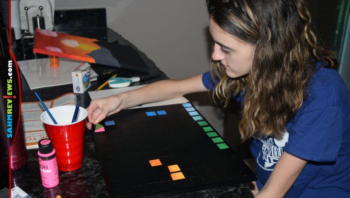 How do my daughters show their love for their favorite board game? They make custom artwork that pays tribute to Hues and Cues! Find out how! - SahmReviews.com