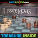We thought we'd be playing this copy of Inside Moves that we found at thrift right away. Turns out it was missing a piece. But, we had a solution! - SahmReviews.com