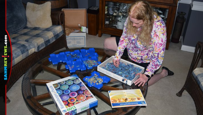Jigsaw puzzle accessories like the sorting trays from Ravensburger will change the way you assemble puzzles. - SahmReviews.com